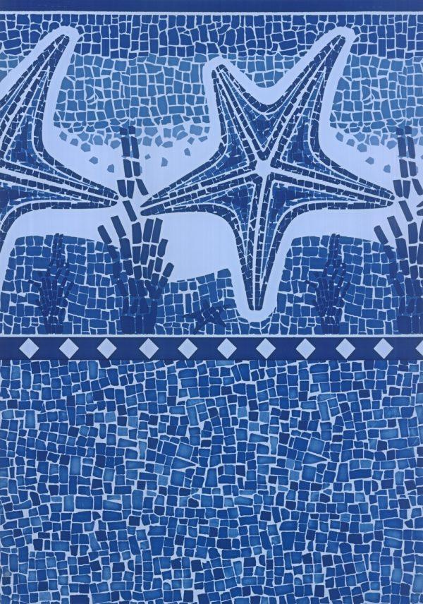 Estrela Havai Mosaico Dark Blue
